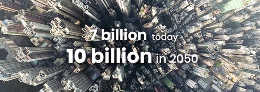 Figura 2. Previsión de la FAO en cuanto a la población mundial para 2050.